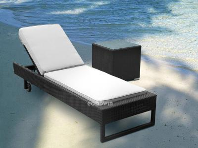 Hotel Outdoor Beach Rattan Chaise Liege