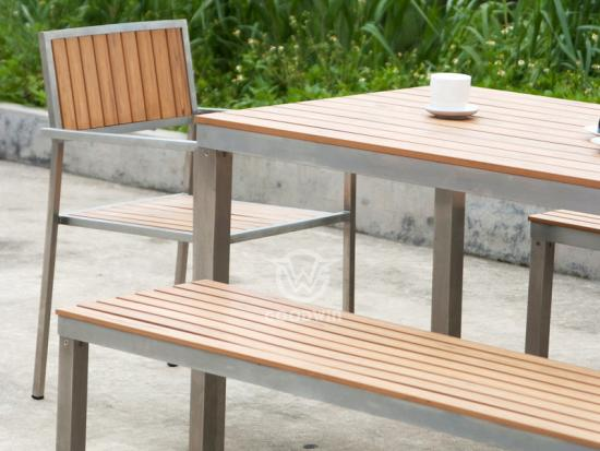 Patio Dining Bench Set