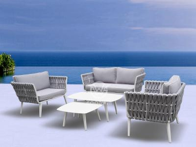 Aluminum Frame Rope Sofa Set