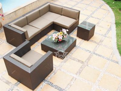 l shaped outdoor furniture sectional pe wicker sofa set