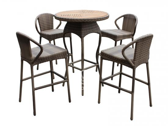 Rattan Bar Stool Set