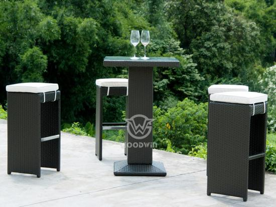 Outdoor Rattan Bar Set