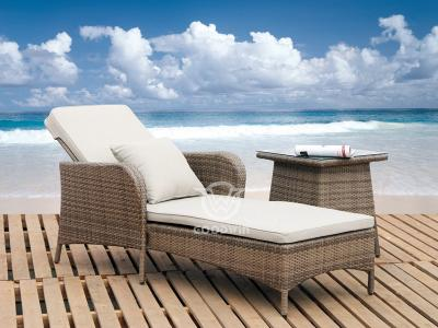 Weatherproof Rattan Chaise Lounge
