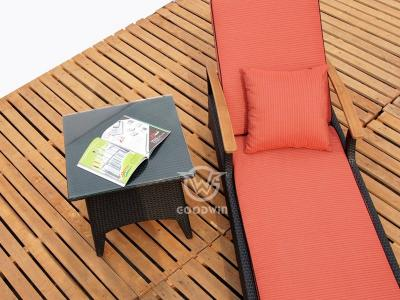 elegantes Design Rattan Wicker Liege Chaiselongue