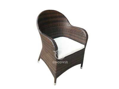 High-End-Aluminiumrahmen gewebtes Rattan-Ess-Set