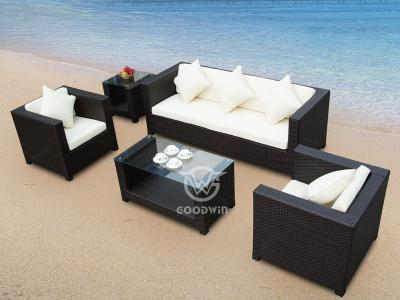 Patio Rattan Modular Sofa Set