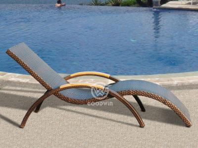 S Shaped Rattan Chaise Lounge