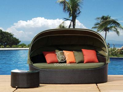 Outdoor Sun Bed With Canopy