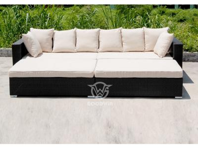 Outdoor Wicker Rattan Schnittsofa Set
