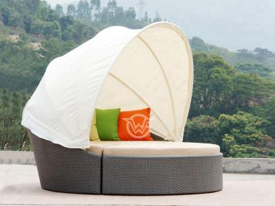 2 in 1 Outdoor Rattan Daybed Mit Überdachung