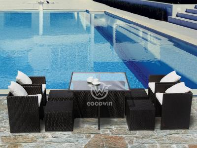 Synthetic Rattan Cube Dining Set